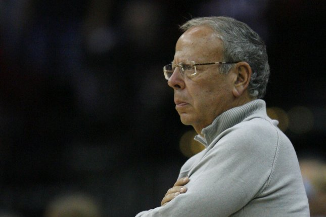 Houston Rockets owner Leslie Alexander watches as his team takes on the Los Angeles Lakers. File photo by Aaron M. Sprecher/UPI