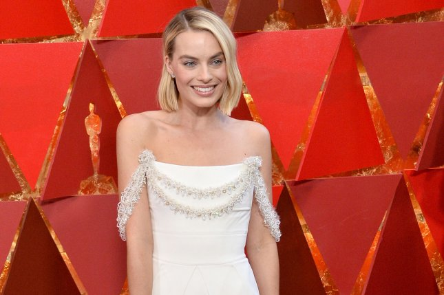 Margot Robbie is DC Comics character Harley Quinn once again in a new photo from Birds of Prey. File Photo by Jim Ruymen/UPI