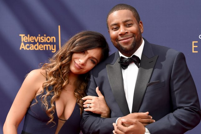 Kenan Thompson (R), pictured with Christina Evangeline, will serve as an executive producer on an All That reboot. File Photo by Gregg DeGuire/UPI