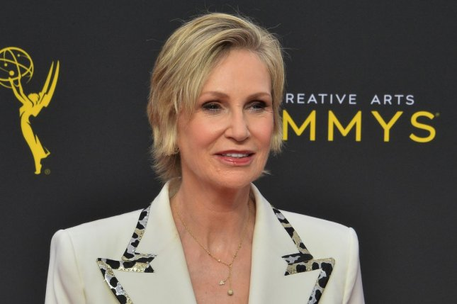Jane Lynch announced at the Creative Arts Emmy Awards on Sunday she is working on a new Netflix comedy series that will also star Cyndi Lauper. Photo by Jim Ruymen/UPI