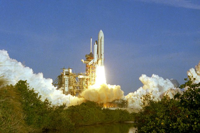 Space Shuttle Columbia launches for the first time on April 12, 1981, at Kennedy Space Center in Florida. File Photo courtesy of NASA