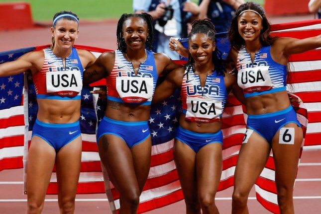USA makes karate history, track stars help push Olympic medal total near 100