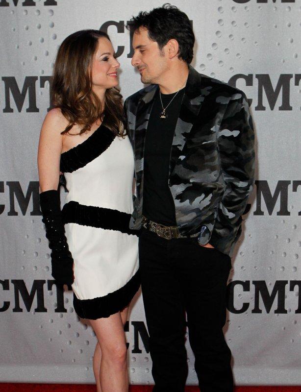Brad Paisley and wife Kimberly in Nashville, Nov. 29, 2011. UPI/Terry Wyatt