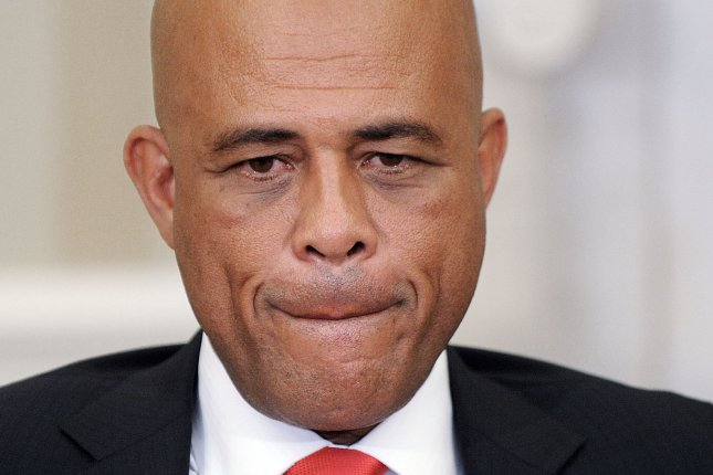 President Michel Martelly of Haiti, pictured on February 6, 2014. (UPI/Olivier Douliery/Pool)