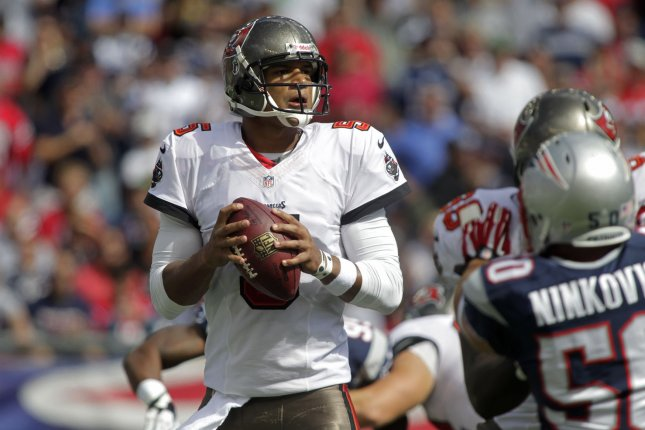Former Tampa Bay Buccaneers quarterback and 2009 first-round draft pick Josh Freeman has announced his retirement. Photo by Matthew Healey/UPI