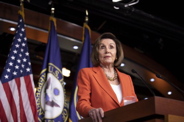 House Speaker Nancy Pelosi told reporters Thursday the whistle-blower in President Donald Trump's impeachment case will not be identified. Photo by Tasos Katopodis/UPI