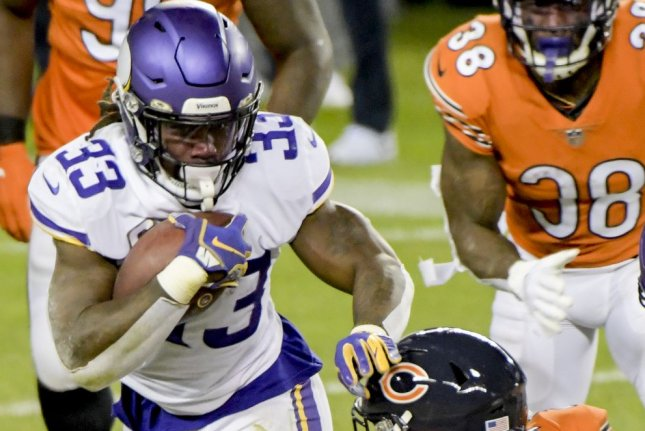 Dalvin Cook (33) of the Minnesota Vikings is my top fantasy football running back for Week 1. File Photo by Mark Black/UPI