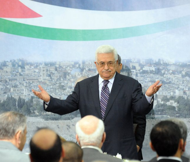 Palestinian President Mahmoud Abbas gestures during a speech in the presidential compound in Ramallah, West Bank, September 16, 2011. Abbas said he would ask the UN Security Council next week to accept the Palestinians as full members of the United Nations. UPI/Debbie Hill