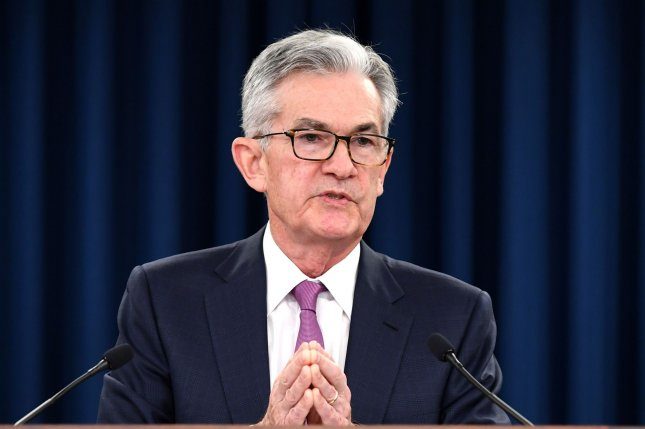 Federal Reserve Chairman Jerome Powell speaks at press conference following the central bank's June Federal Open Market Committee meeting in Washington, D.C. on Wednesday. Photo by Kevin Dietsch/UPI