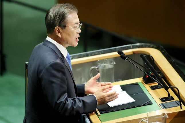 South Korean President Moon Jae-in has supported a solution to the issue of comfort women beyond a 2015 settlement reached under a previous administration. File Photo by Monika Graff/UPI
