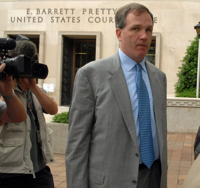 Special Counsel Patrick Fitzgerald leaves the federal courthouse in Washington after I. Lewis Scooter Libby, Vice President Dick Cheney's former chief of staff, was sentenced to 30 months in prison and fined $250,000 for his role in the Valerie Plame CIA leak case, on June 5, 2007. (UPI Photo/Roger L. Wollenberg)