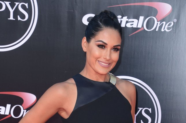 Brie Bella at the ESPY Awards on July 13. The WWE star announced her pregnancy in October. File photo by Jim Ruymen/UPI