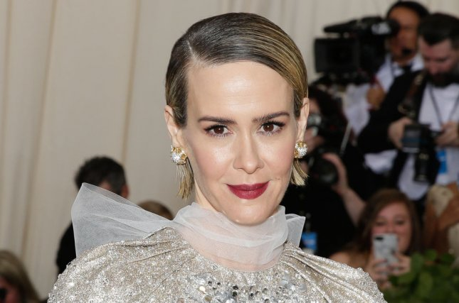 Sarah Paulson told Jimmy Fallon on The Tonight Show how Drew Barrymore reacted to her impression of the actress. Photo by John Angelillo/UPI