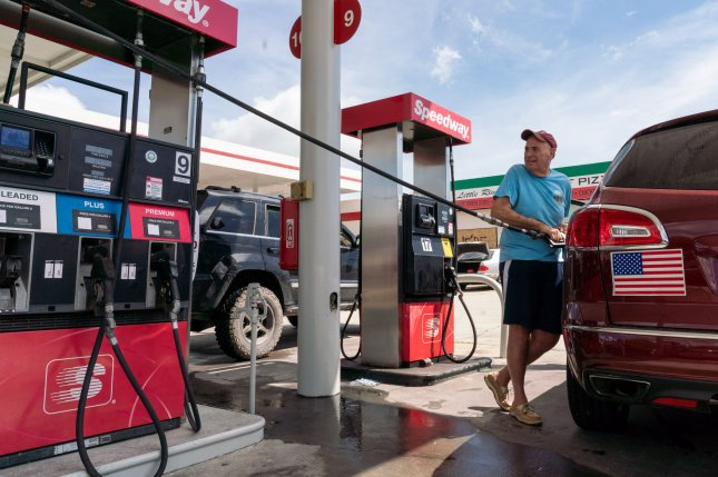 Jerry San Diego takes advantage of what little gas was available at a station in Little River, N.C., before Hurricane Florence slammed into the East Coast of the United States last week. File Photo by Ken Cedeno/UPI