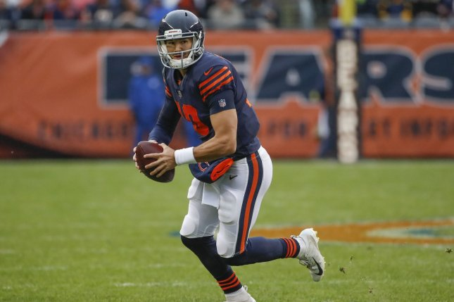 9b29154fe7b Chicago Bears quarterback Mitchell Trubisky (10) looks to pass the ball  against the New York Jets during the second half on Sunday at Soldier Field  in ...