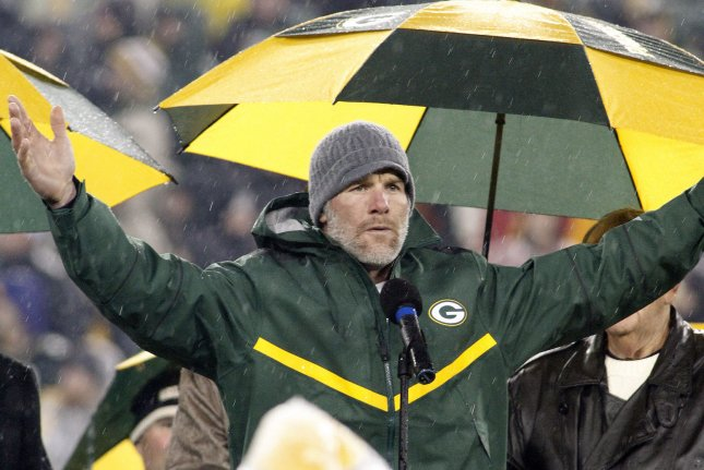 Former Green Bay Packers quarterback Brett Favre committed Thursday to repay the state $1.1 million for paid speeches he never delivered. File Photo by Frank Polich/UPI