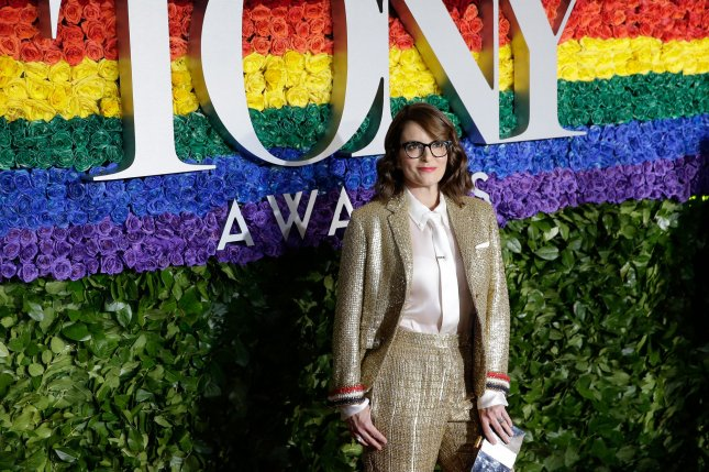 Tina Fey arrives on the red carpet at the 73rd Annual Tony Awards at Radio City Music Hall on June 9 in New York City. The actor turns 50 on May 18. File Photo by John Angelillo/UPI