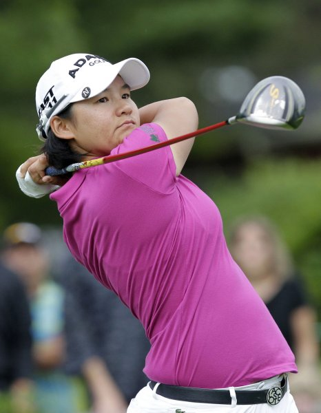 Yani Tseng, shown in a 2011 file photo, has dropped to No. 10 in the latest women's world golf rankings. She was No. 1 as recently as March. UPI/John Angelillo