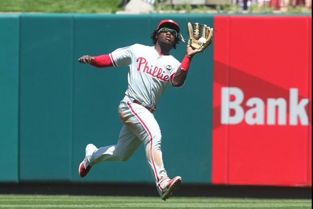 Philadelphia Phillies centerfielder Odubel Herrera. Photo by Bill Greenblatt/UPI
