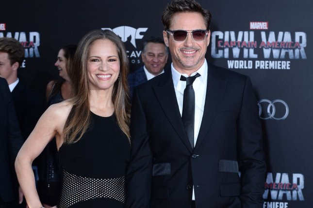 Robert Downey Jr. and his wife Susan Downey attend the premiere of Captain America: Civil War on April 12, 2016. While promoting the film on Jimmy Kimmel Live! Downey shared his excitement for the upcoming Spider-Man reboot starring Tom Holland. File Photo by Jim Ruymen/UPI