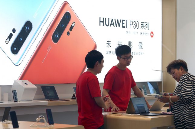 Huawei faces U.S. sanctions amid an unresolved trade dispute between China and the United States. File Photo by Stephen Shaver/UPI