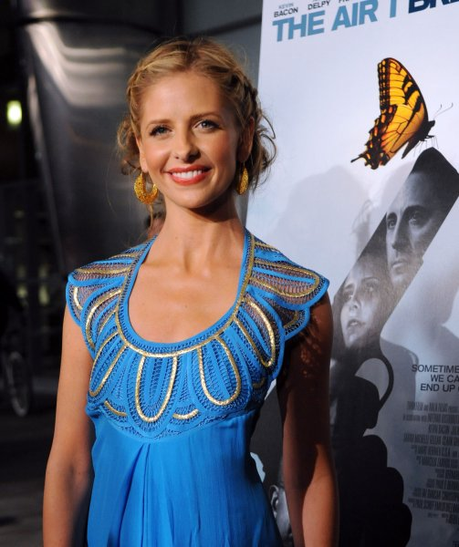 Sarah Michelle Gellar, a cast member in the motion picture romantic crime drama The Air I Breathe attends the premiere of the film in Los Angeles on January 15, 2008. (UPI Photo/Jim Ruymen)