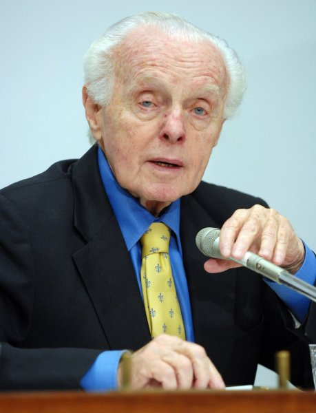 Rep. Tom Lantos, D-CA, speaks during a conference about politics in Russia on October 10, 2007, on Capitol Hill in Washington. One year after Anna Politkovskaya's murder, a Russian journalist and human rights activist known for her opposition to the Chechen conflict and Russian President Putin, opposition leader Garry Kasparov says democracy in Russia is going backwards. (UPI Photo/Roger L. Wollenberg)
