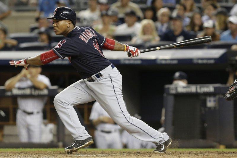 Cleveland Indians' Jose Ramirez. Photo by John Angelillo/UPI