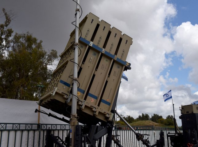 The Israel Defense Force said the Iron Dome anti-missile system, pictured above, intercepted seven of 30 missiles fired into Israeli territory from Gaza overnight on Tuesday. File Photo by Debbie Hill/UPI