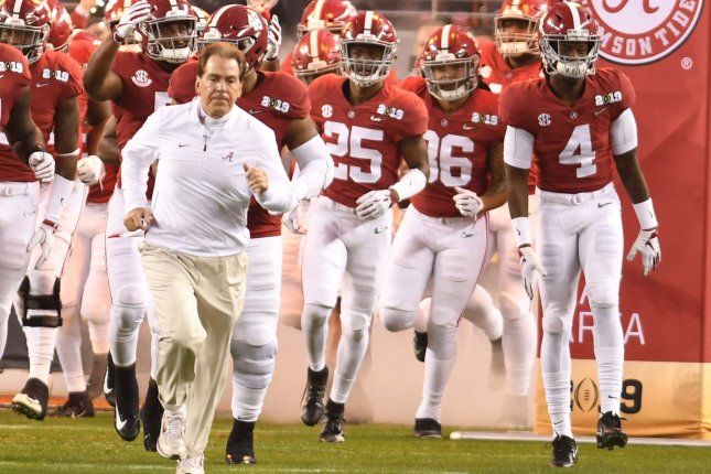 Alabama and Georgia will play Oct. 17 at Bryant-Denny Stadium, marking the first regular-season game between the Crimson Tide and Bulldogs in Tuscaloosa, Ala., since Nick Saban's first season as Alabama's head coach in 2007. File Photo by Ken Levine/UPI