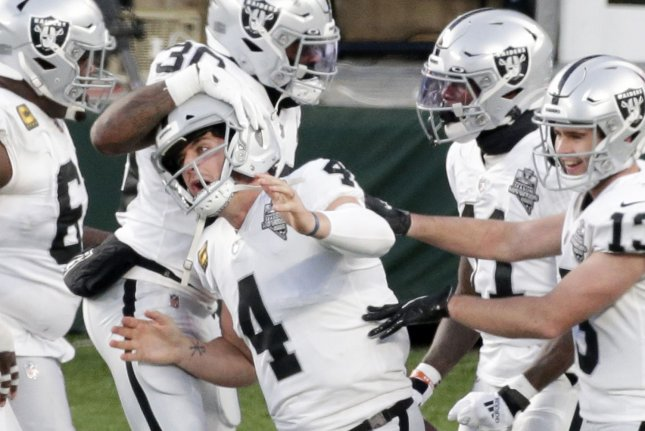The majority of the Las Vegas Raiders roster is expected to skip voluntary off-season workouts due to concerns with the coronavirus pandemic. File Photo by John Angelillo/UPI