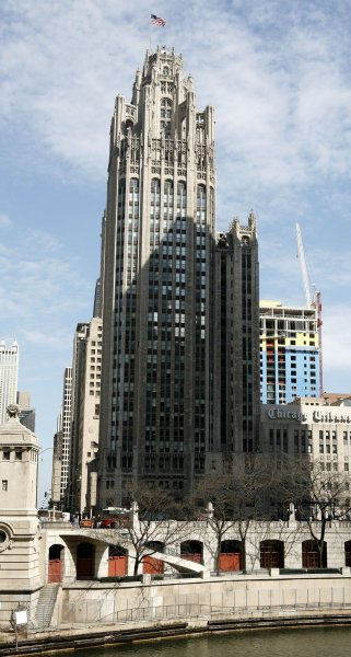 The Chicago Tribune company corporate headquarters stands in downtown Chicago on April 2, 2007. (UPI Photo/Brian Kersey)