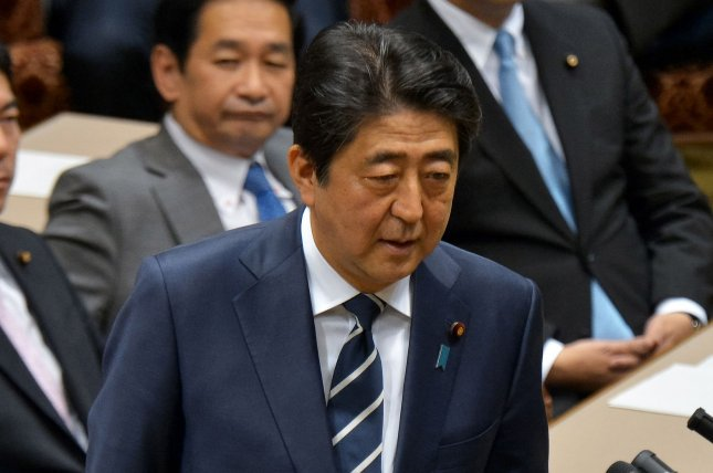 Japan's Prime Minister Shinzo Abe has invited Pope Francis to visit Hiroshima. Japan is wary of growing North Korea nuclear threats and Abe has spoken out against weapons of mass destruction. File Photo by Keizo Mori/UPI