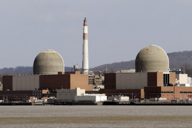 Indian Point Nuclear Power Plant stands on the edge of the Hudson River near the Ramapo Fault in Buchanan, New York. A new report from the FBI and Department of Homeland Security suggest hackers have been targeting companies that operate nuclear facilities in the United States. Photo by UPI/John Angelillo