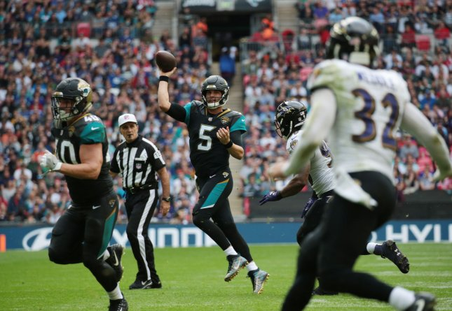 Blake Bortles and the Jacksonville Jaguars look to build off last week's impressive win. Photo by Hugo Philpott/UPI