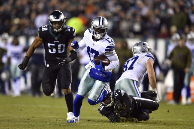 Former Dallas Cowboys wide receiver Allen Hurns (17) sustained a lower leg injury during the playoffs and was released Wednesday. File Photo by Derik Hamilton/UPI