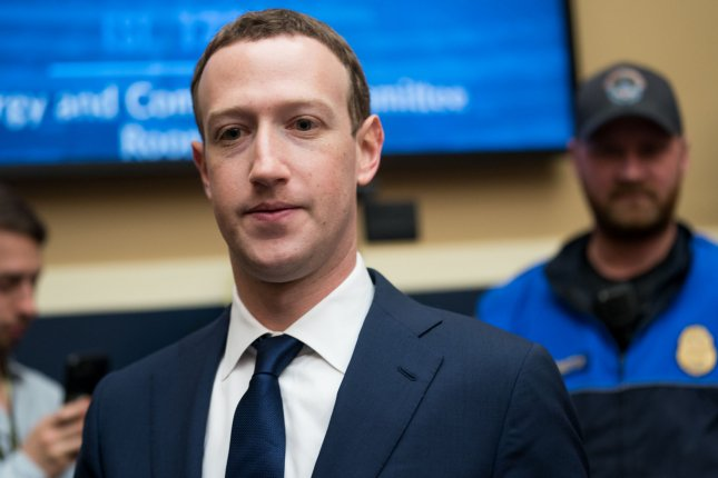Facebook co-founder and CEO Mark Zuckerberg will testify before the House about the company's cryptocurrency plans in October. File Photo by Erin Schaff/UPI