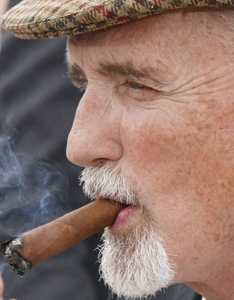 Actor Dennis Hopper arrives at a photocall for the film Chelsea on the Rocks during the 61st Annual Cannes Film Festival in Cannes, France on May 23, 2008. (UPI Photo/David Silpa)