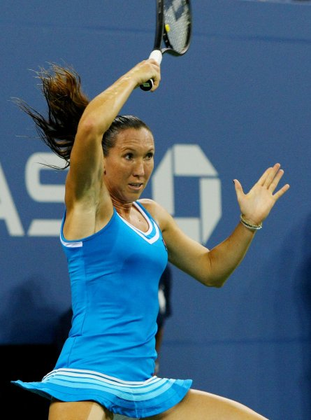 Jelena Jankovic, shown at this year's U.S. Open, was a 6-0, 6-0 winner Thursday in third-round play of the WTA's China Open in Beijing. UPI Photo/Monika Graff