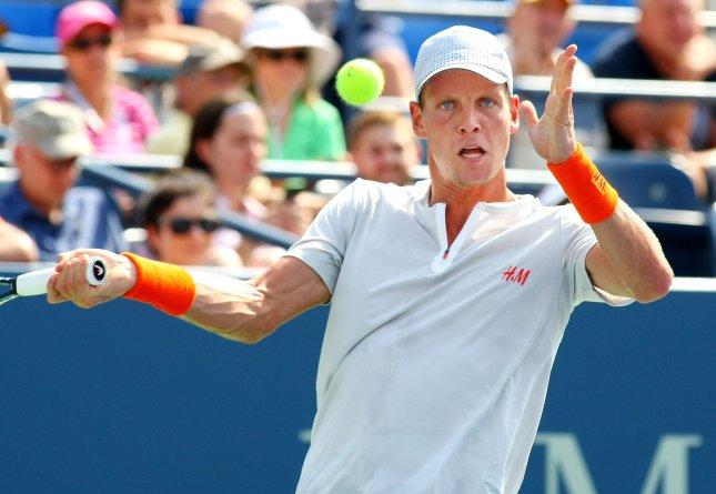 Tomas Berdych, shown at last year's U.S. Open, was among first-round winners Monday at the ATP's ABN AMRO World Tennis Tournament in that Netherlands UPI Photo/Monika Graff