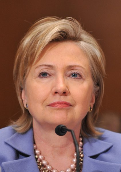 Secretary of State Hillary Clinton testifies before a Senate Foreign Relations Committee hearing in Washington on May 20, 2009. (UPI Photo/Kevin Dietsch)