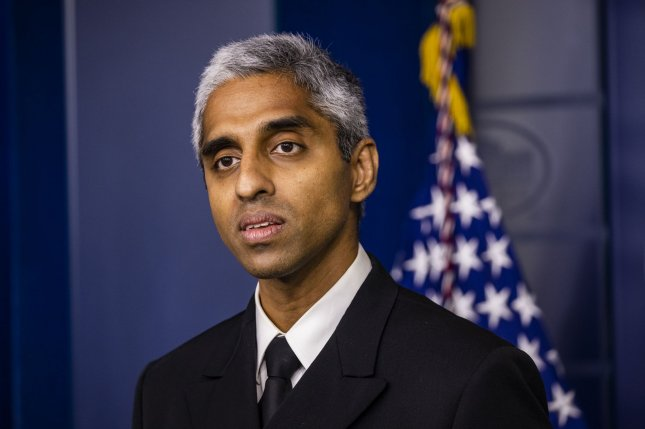 Surgeon General Vivek Murthy said Sunday that it is very reasonable for officials in Los Angeles County and other localities that see fit to reinstate COVID-19 restrictions amid rising cases. Photo by Samuel Corum/UPI