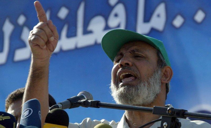 Mahmoud Al-Zahar. (UPI Photo/Ismael Mohamad)