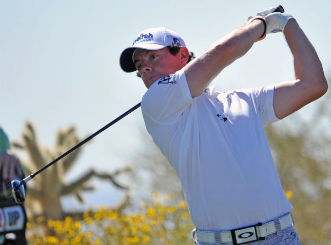 Rory McIlroy, shown in a tournament in February, returned this week to the world No. 1 ranking in men's golf. UPI /Art Foxall