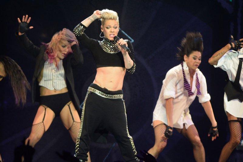 American singer Pink performs at O2 Arena in London on 24 April, 2013. (File/UPI/ Rune Hellestad)
