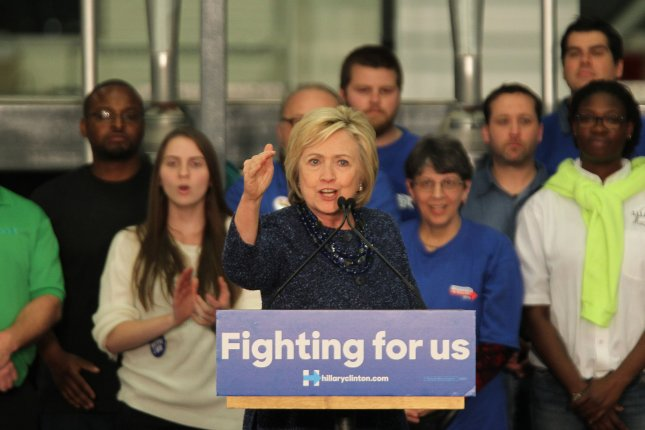 Democratic presidential candidate Hillary Clinton expands her lead over Sen. Bernie Sanders, I-Vt, according to the latest Iowa poll. Photo by Bill Greenblatt/UPI