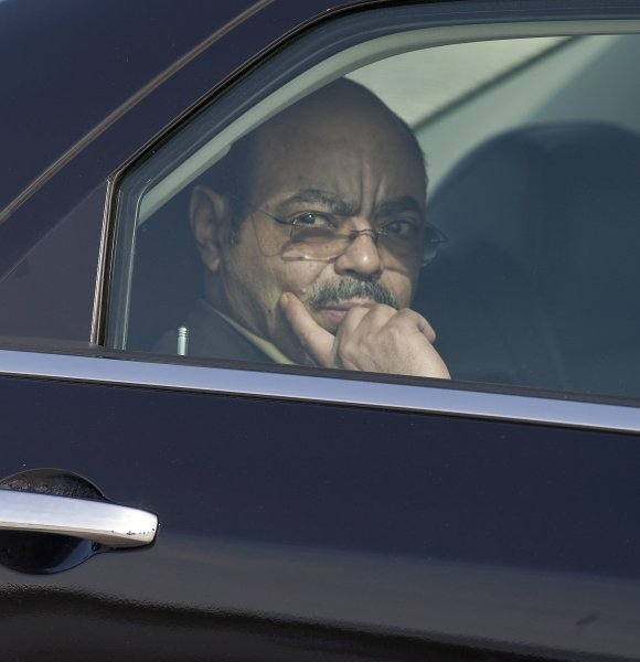 The Prime Minister of Ethiopia Ato Meles Zenawi departs in a limousine after arriving at Toronto International Airport, June 24, 2010 to attend the G8, G20 Summits in Huntsville and Toronto, Ontario, Canada. UPI/Heinz Ruckemann.