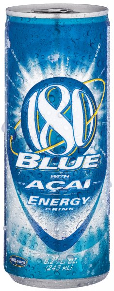 Anheuser-Busch's '180 Blue' -- the first packaged energy drink launched by a major beverage company in the United States to contain the Acai berry, in St.Louis on October 11, 2006. (UPI Photo/HO/Anheuser-Busch)