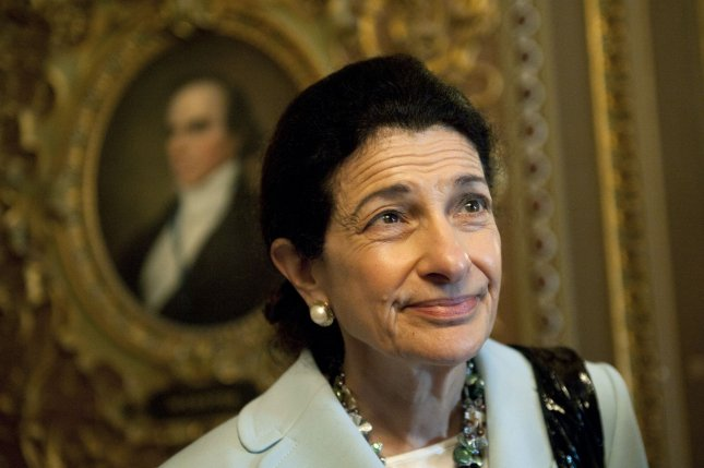 Sen. Olympia Snowe (R-ME) is seen following a GOP policy luncheon meeting on Capitol Hill in Washington on July 13, 2010. UPI/Kevin Dietsch