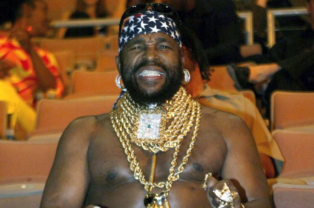 Mr. T at the Jones-Tarver Light Heavyweight championship fight at Mandalay Bay in Las Vegas on May 15, 2004. The 1980s icon got the boot on Dancing with the Stars Monday night. File Photo by Roger Williams/UPI